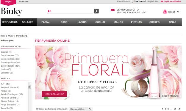 Perfumes baratos para mujer