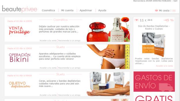 Ventas privadas de perfumes online