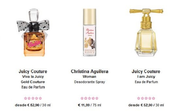 Perfumes San Valentín baratos