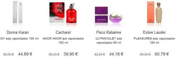 Perfumes San Valentín sin gastos de envío