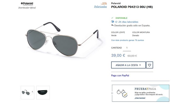 gafas polaroid aviator