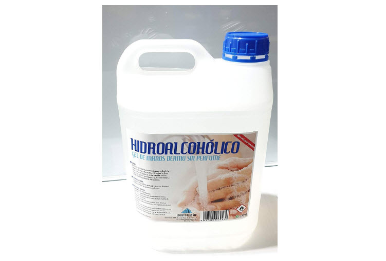 geles desinfectantes de manos de mas de 1 litro